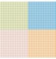 Set of seamless tartan pattern vector image