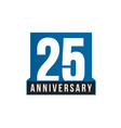 25th anniversary icon birthday logo vector image vector image