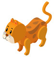 3d design for ginger cat vector image vector image