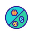 bacterium icon isolated contour symbol vector image vector image