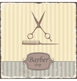 Barber shop vintage retro typography vector image