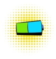 Battery icon comics style vector image vector image