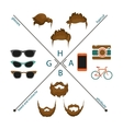 beard mustache and haircut vector image
