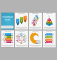 big collection colorful infographics design vector image vector image