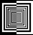 black and white squares vector image vector image