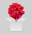 bundle balloons in shape a heart vector image vector image