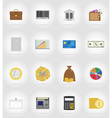 business and finance flat icons 17 vector image