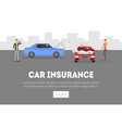 car insurance landing page template vector image