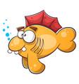 Cartoon fish tooth water eye