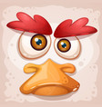 chicken a duck an insane bird is a funny vector image vector image