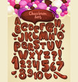 chocolate boom font set vector image