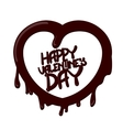 chocolate Happy Valentines Day card vector image