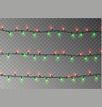 Christmas lights string isolated realistic garlan