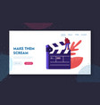 cinematograph movie making process website vector image vector image