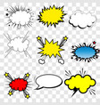 collection multicolored comic sound effects vector image vector image