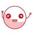 comic kawaii emoticon character vector image vector image