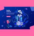 data services concept isometric vector image vector image