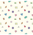 Diamond seamless pattern vector image