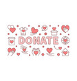 donate creative horizontal vector image vector image