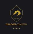 dragon company logo or emblem logo vector image