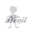 evil devil silhouette theme vector image