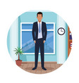 executive man cartoon vector image