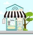 fashion store front building background vector image