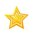 golden cartoon glossy star vector image vector image