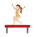 gymnast girl sport vector image