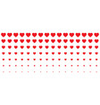 halftone hearts gradient background valentines vector image vector image