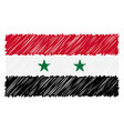 hand drawn national flag of syria isolated on a vector image vector image