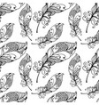 hand drawn seamless plumage pattern vector image vector image