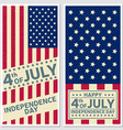 Happy 4th of july Independence day greeting card vector image vector image