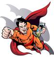 Hero at work vector image