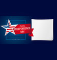 independence day banner template vector image vector image