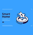 landing page smart home technology vector image vector image