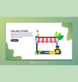 landing page template online store modern flat vector image
