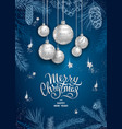merry christmas decoration 2019 vector image vector image