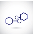 Molecule and communication shape vector image vector image