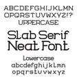 neat slab serif font isolated english alphabet vector image