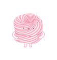 pink marshmallow character vector image vector image