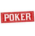 poker grunge rubber stamp vector image vector image