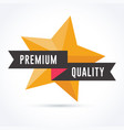 premium quality with star vector image vector image