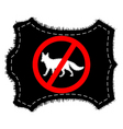 prohibition sign fox fur vector image vector image