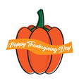 pumpkin sketch and a ribbon with text vector image vector image