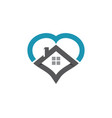real estate property and construction logo design vector image vector image