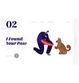 responsibility and help homeless animals website vector image
