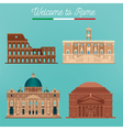 Rome Architecture Tourism Italy Buildings vector image vector image