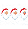 santa claus hat and beard drawing of a head vector image