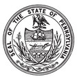 seal state pennsylvania vintage vector image vector image